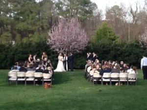 Raleigh nc outdoor wedding venue rand bryan house beautiful spring time outdoor wedding ceremony junglespirit Image collections