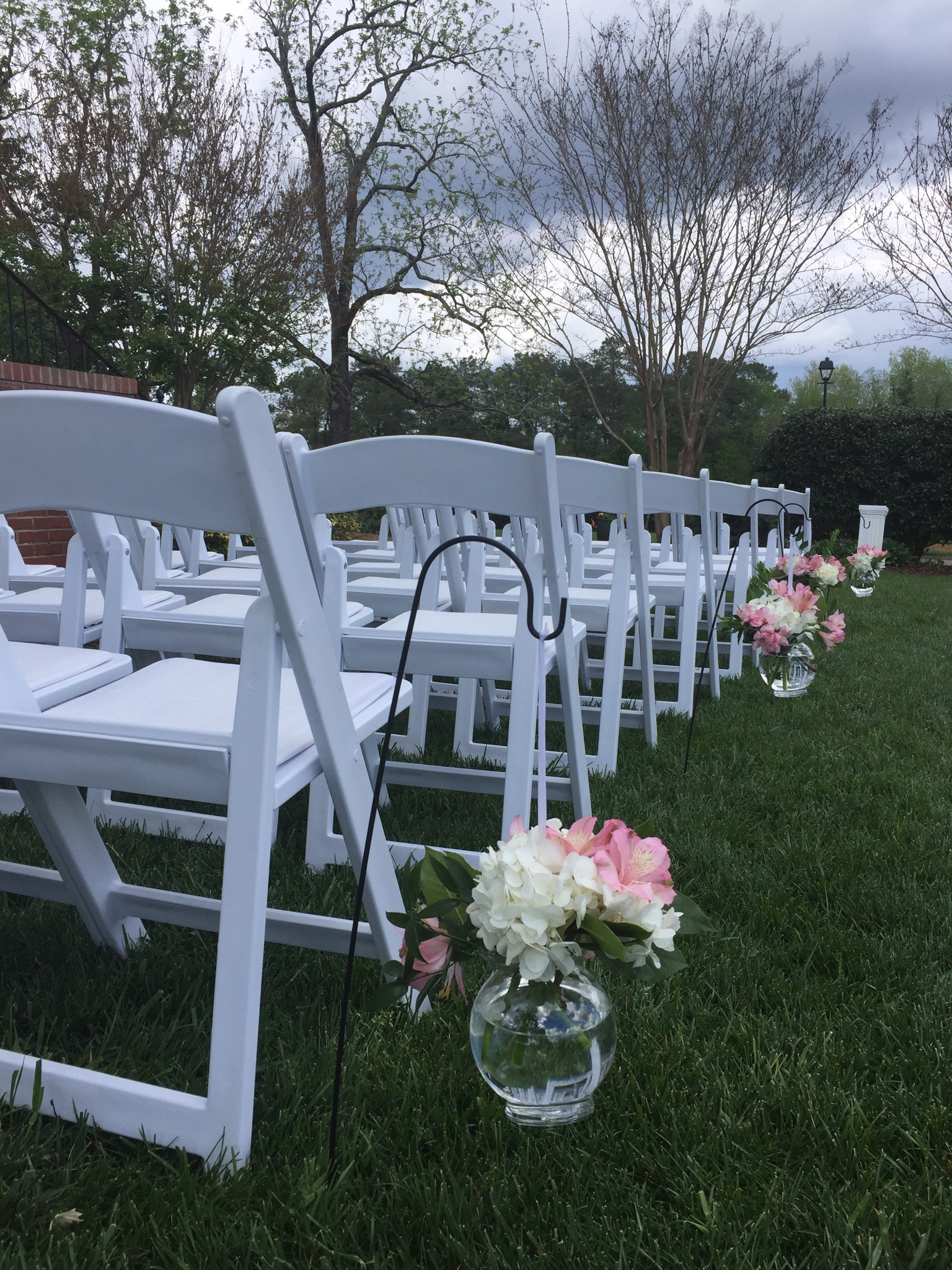 Ceremony on Rand-Bryan House front lawn