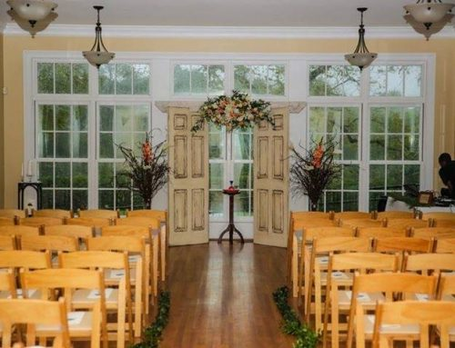Outdoor wedding ceremony & brunch reception on the perfect spring day for Theresa & Steve