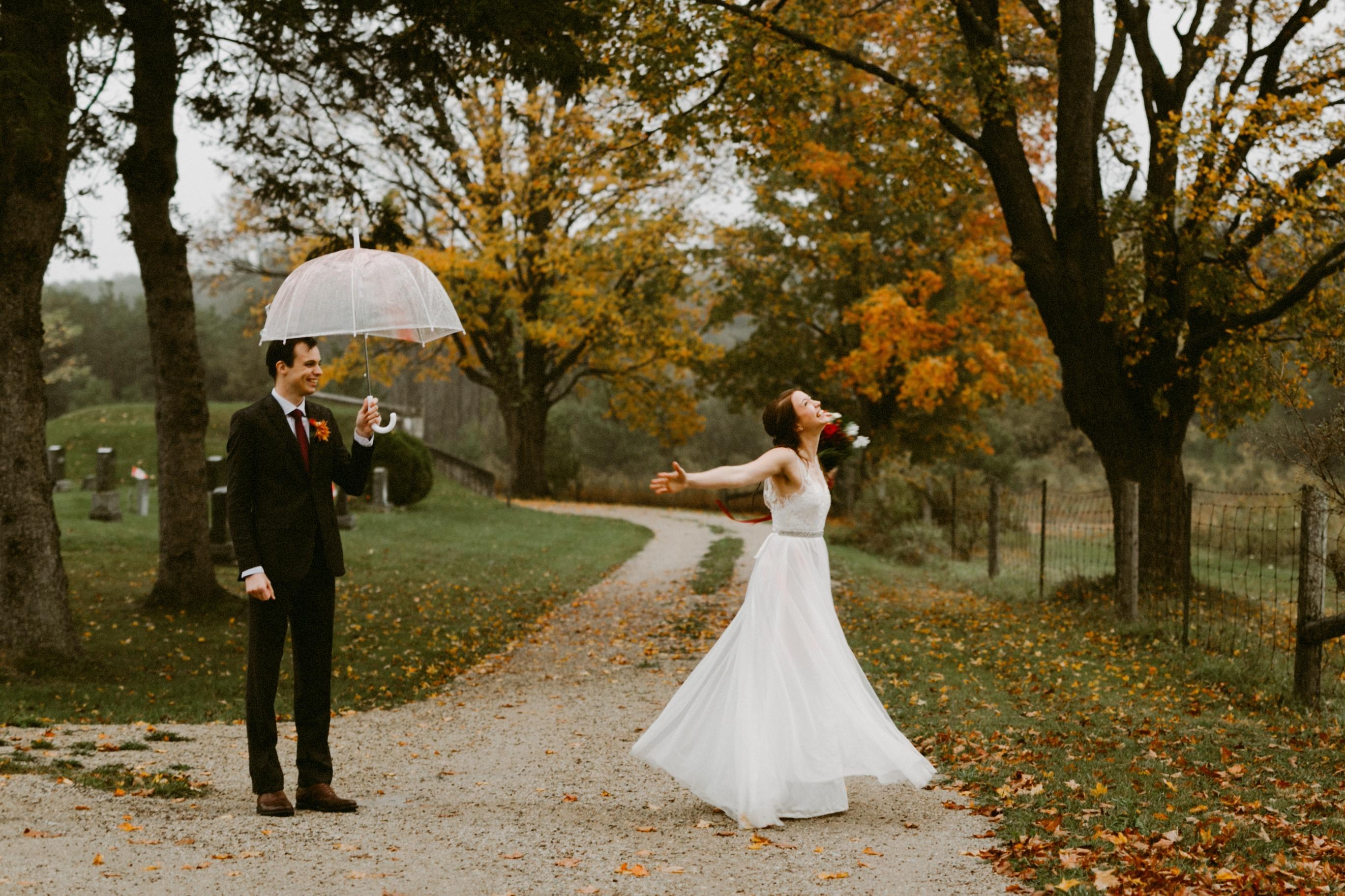 In case of rain on your wedding day, have a plan. - Rand-Bryan House