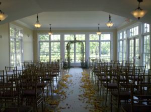 Indoor wedding ceremonies at The Rand-Bryan House