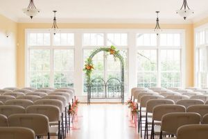 Indoor wedding ceremonies at The Rand-Bryan House are romantic and intimate.