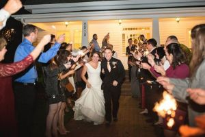 Congratulations to the happy couple as they leave their Raleigh wedding at The Rand-Bryan House