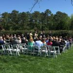 Outdoor ceremony at Rand-Bryan House