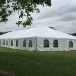 Tented reception at Rand-Bryan House