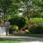 Outdoor wedding at Rand-Bryan House