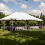 Tented ceremony at Rand-Bryan House