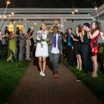 Bride & Groom sparkler exit at Rand-Bryan House
